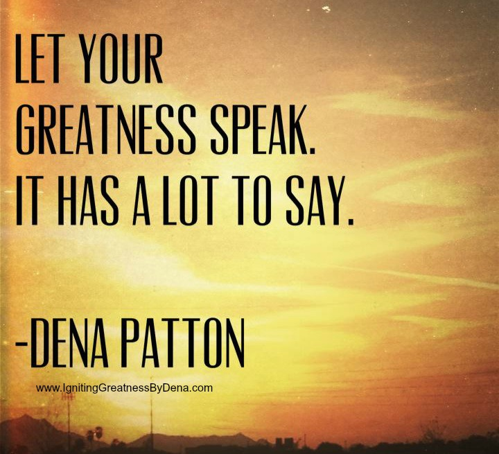 greatness speak